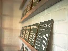 menu at southside slice in rosemary