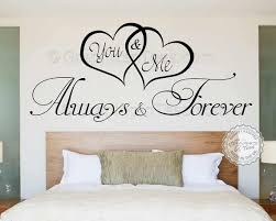 You Me Always Forever Romantic Bedroom Wall Sticker Love Quote Etsy