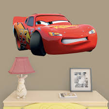 Fathead Lightning Mcqueen Cars 3 X Large Officially Licensed Disney Pixar Removable Wall Decal Walmart Com Walmart Com