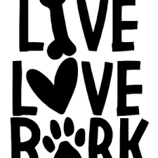 Live Love Bark Car Decal Shop Fur Paws
