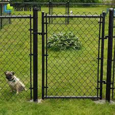 Black Pvc Coated Commercial Chain Link Fence Gate For School Buy Chain Link Fence Gate Design Used Chain Link Fence Gates Chain Link Fence Double Swing Gate Product On Alibaba Com
