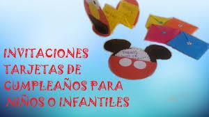 Invitaciones Tarjetas De Cumpleanos Para Ninos O Infantiles Youtube