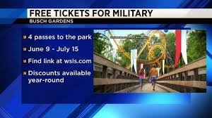 busch gardens giving free admission to