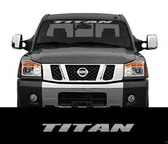 Product Titan Nissan Front Windshield Window Banner Decal Sticker Titan Nismo