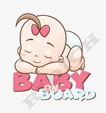 Baby On Board Sticker Vinyl Decal Baby Girl Sleeping Ebay