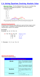 solving equations involving absolute value