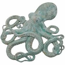 octopus wall decor shipwreck finish