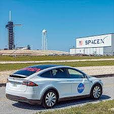 Astronauts To Ride Nasa Adorned Tesla Model X To Spacex Launchpad Collectspace