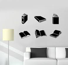 Vinyl Wall Decal Reading Room Open Books Library Knowledge Stickers G2797 Ebay