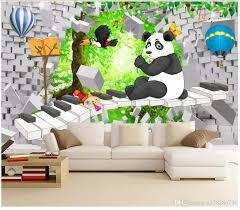 3d Photo Wallpaper Custom 3d Wall Murals Wallpaper 3d Brick Wall Cartoon Little Panda Beautiful Childrens Room Kids Room Mural Background Free High Resolution Wallpaper Free High Resolution Wallpapers From A378286736 8 96