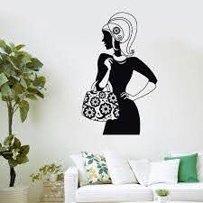Bag Store Vinyl Wall Decal Shopping Girl Fashion Women Beauty Salon Wall Sticker Clothing Store Window Glass Room Decoration Room Decoration Salon Wall Stickersvinyl Wall Decals Aliexpress