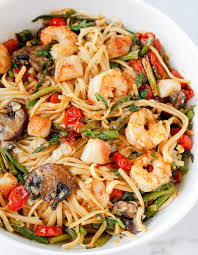 Seafood Pasta with Roasted Veggies ...