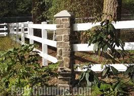 Decorative Fence Ideas Using Faux Stone Columns Front Yard Fence Backyard Fences Garden Fence Panels