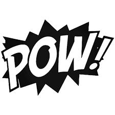 Superhero Pow Punch Vinyl Decal Sticker