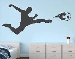 Voetballer Wall Decal Voetbal Muur Decor Sport Sticker Etsy Soccer Room Boys Soccer Bedroom Kids Room Wall Murals