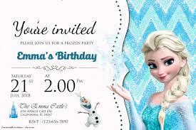 Free Frozen Birthday Invitation Templates Fiesta De Frozen