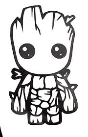 Baby Groot Vinyl Decal Sticker Window Buy Online In French Polynesia At Desertcart