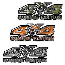 Weston Ink Zombie Edition 4x4 Decals For Jeeps Or Trucks