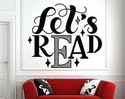 Library Wall Decal Etsy