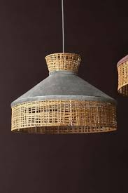 velvet rattan pendant ceiling light