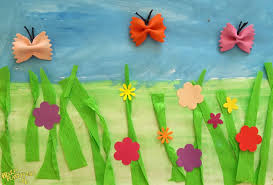 Łąka z motylami - Prace plastyczne dla dzieci