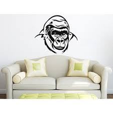 Shop Gorilla Monkey Wall Decal Animals Vinyl Sticker Decal Size 22x26 Color Black 22 X 26 Overstock 14046295
