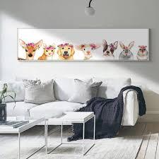 Cute Woodland Animals Nursery Art Wide Format Canvas Print Painting Nordicwallart Com