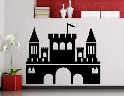 Amazon Com Castle Wall Decal Medieval Castle Magic Fairytale Kingdom Vinyl Sticker Home Interior Art Decoration Any Kids Girl Boy Room Mural Waterproof Vinyl Sticker 302xx Toys Games