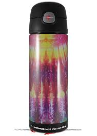 Amazon Com Skin Decal Wrap For Thermos Funtainer 16oz Bottle Tie Dye Rainbow Stripes Bottle Not Included By Wraptorskinz Kitchen Dining