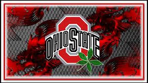 block o ohio state with buckeye leaf