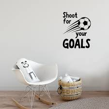 Wall Art Vinyl Decal Shoot For Your Goals 30 X 23 Unisex Kids Imprinted Designs