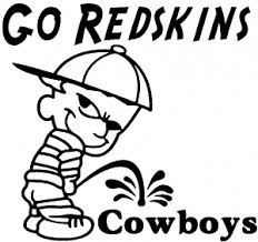 Go Redskins Pee On Cowboys Car Or Truck Window Decal Sticker Or Wall Art All Time Auto Graphics