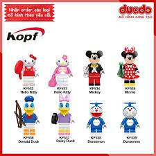 rẻ nhất vn ] Minifigures Mickey, Kitty, Donald, Doraemon siêu đẹp - Đồ chơi  Lắp ghép Xếp hình Mini Mô hình KF6041
