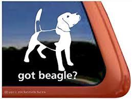 Amazon Com Got Beagle Dog Vinyl Window Auto Decal Sticker Automotive