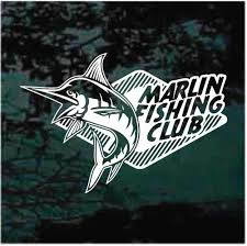 Marlin Fishing Club Car Decals Window Stickers Decal Junky