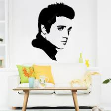 Character Modeling Wall Stickers Elvis 4 Waterproof Removable Home Decal Sale Price Reviews Gearbest