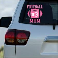 Car Decal Football Sports Vinyl Monogram Decal For Your Truck Laptop Mom Or Dad Ebay
