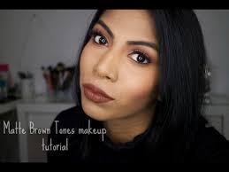 matte brown tones makeup tutorial