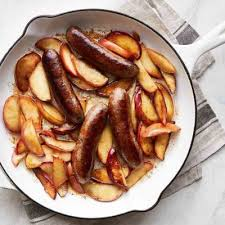 sautéed sausages with apples recipe