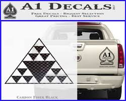 Hawaiian Triangle Decal Sticker A1 Decals