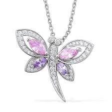 diamond dragonfly pendant necklace