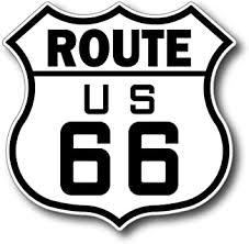 Amazon Com Stickerjoe Route 66 Highway Sign Sticker Road Signs Freeway Vinyl Decal 4 X 5 Automotive