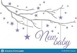 Wall Sticker For Baby Room Stock Vector Illustration Of Decor Birth 138129109