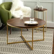 coffee and side table set dark walnut