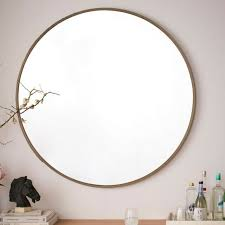 gold leaf round mirrored circles modern