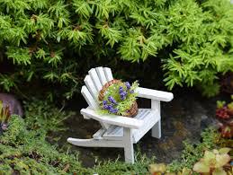 fairy garden adirondack chair basket