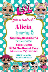 Lol Doll Birthday Con Imagenes Crear Invitaciones De