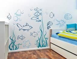 Amazon Com Under The Sea Fish Wall Decals Nursery Children S Kids Room Boy S Removable Vinyl Wa Nursery Wall Decals Boy Kid Room Decor Nursery Wall Stickers