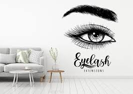 Eyelash Extension Wall Sticker Eyelashes Quote Wall Vinyl Decal Beauty Salon Decor Eye Make Up Removable Window Stickers F899 Wall Stickers Aliexpress