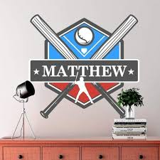 Picture Perfect Decals Custom Baseball Wall Decal Removable Wallpaper Stickers Design With